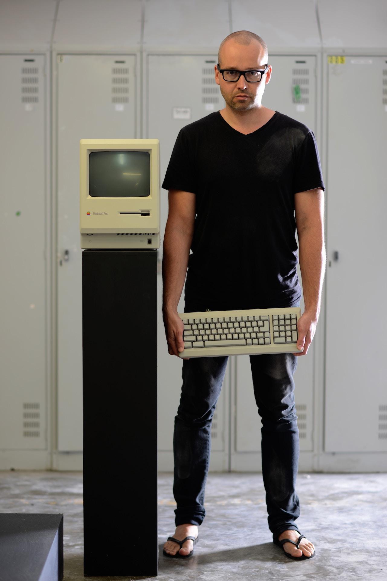 A vintage computer
